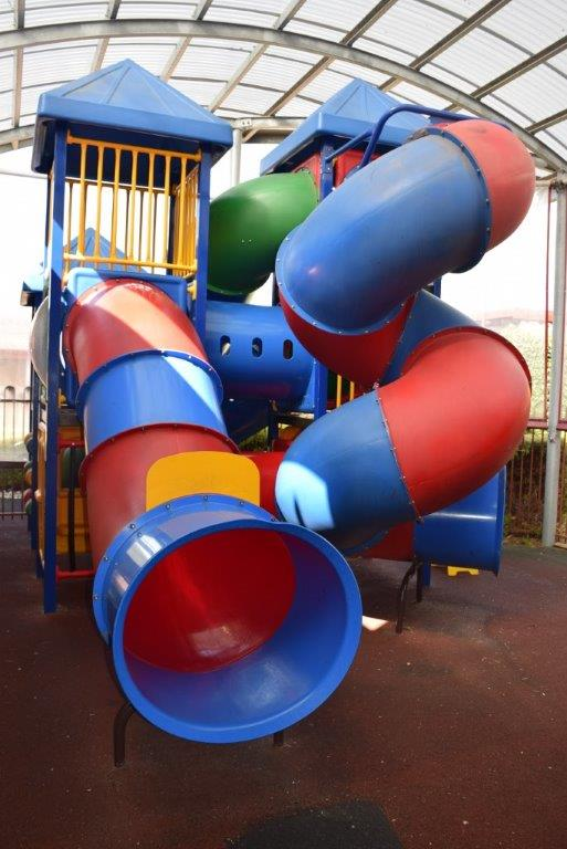 The indoor playground means you don't have to go searching for one in a park when you arrive...