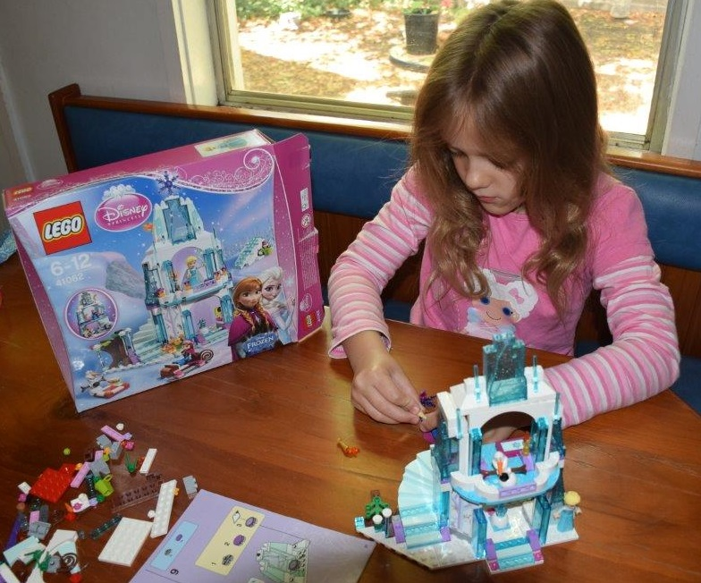 Samantha, 7yo, loved playing with all the Frozen Lego characters best!