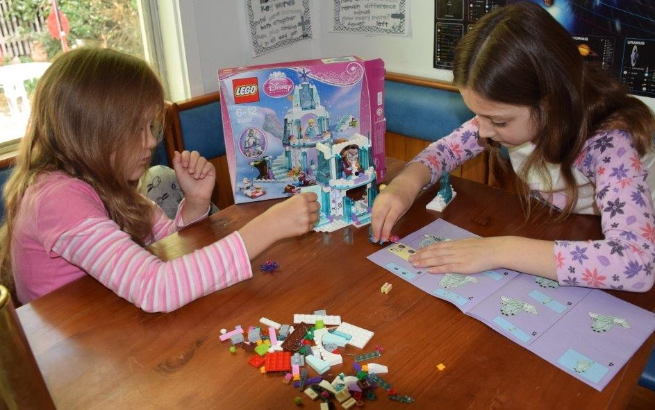 Both Brooke (9) and Samantha (7) loved building and then playing with the Frozen Lego set