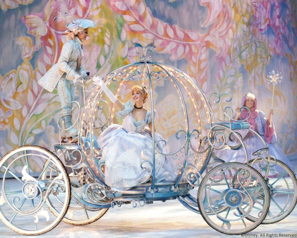 Cinderella on her way to the ball