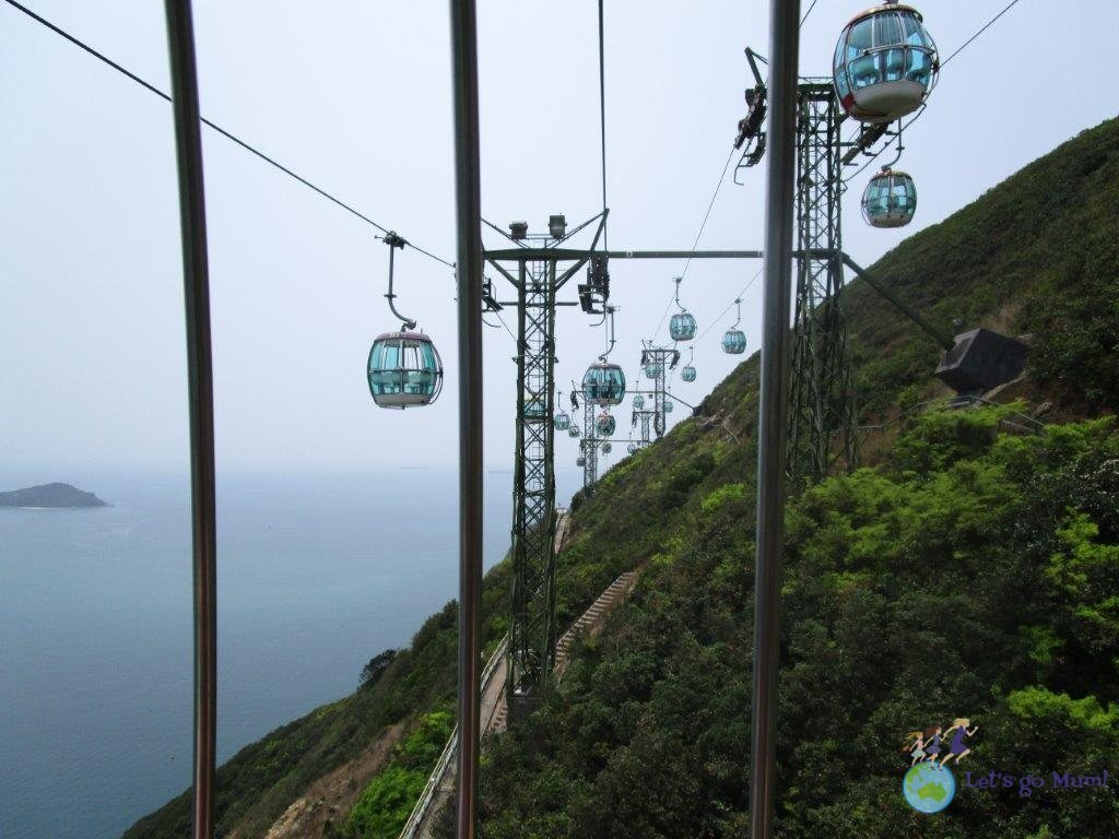The Ocean Park cable car is a beautiful ride