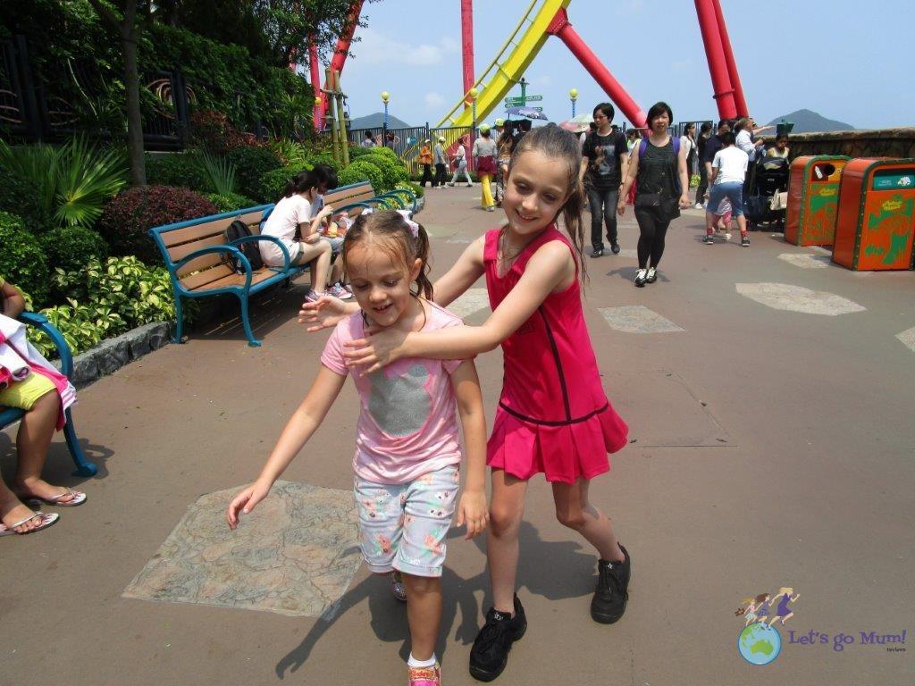 The Raging River ride at Ocean Park