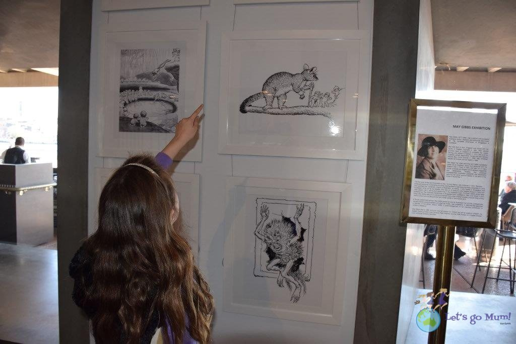 Don't miss the May Gibb's Snugglepot and Cuddlepie illustrations in the Playhouse Lobby!