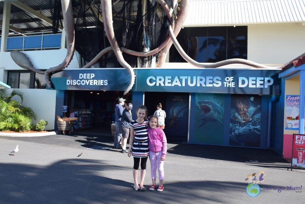 The entrance to the Creatures of the Deep Discovery Centre