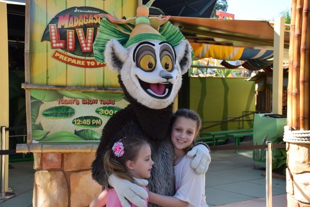 King Julien with two freaky fans - Brooke and Samantha!