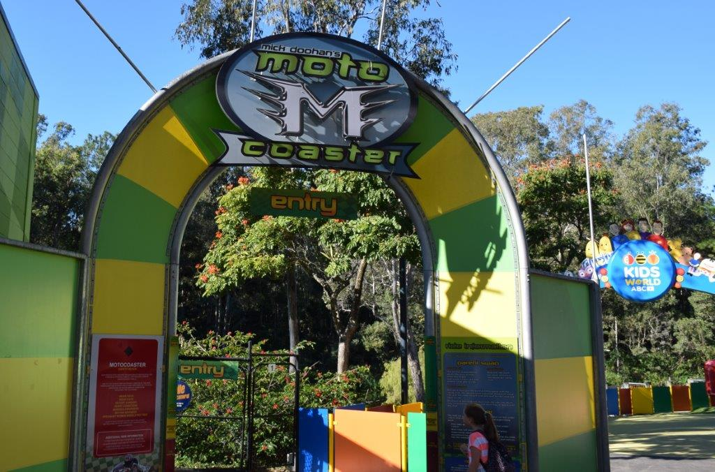 The Mick Doohan Moto Coaster ride is fast and furious fun!