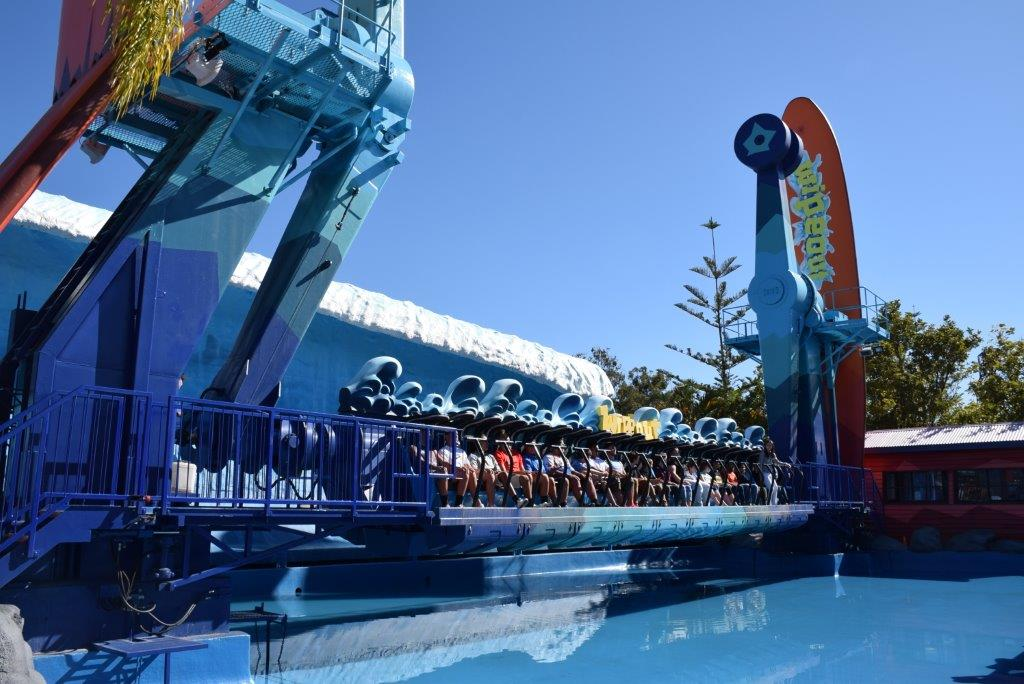The Wipeout - one of the newer big 9 Thrill Rides at Dreamworld