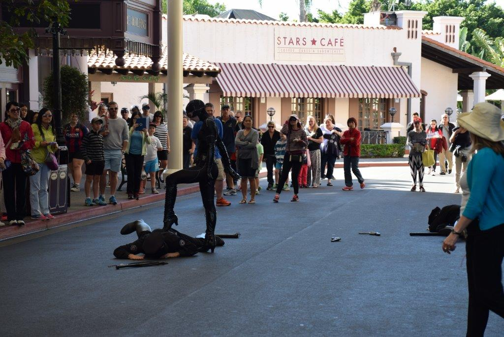 Catwoman shows who's top cat on Main Street at Movie World!