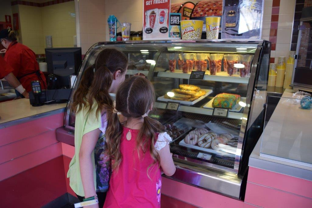 Choosing is the hard part at the Movie World Sweet Treats shop on Mainstreet!