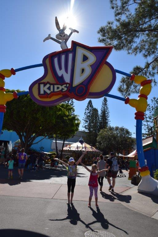 Young children love the Kids' WB! Fun Zone at Movie World!
