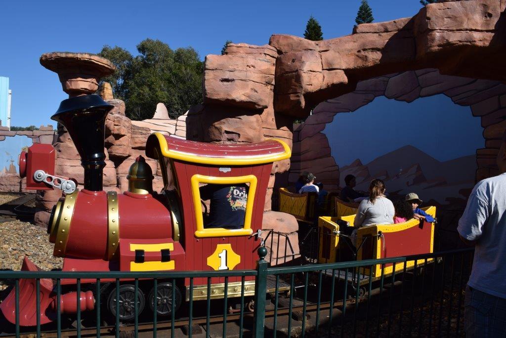 You can catch a train ride in the Kids' WB Fun Zone