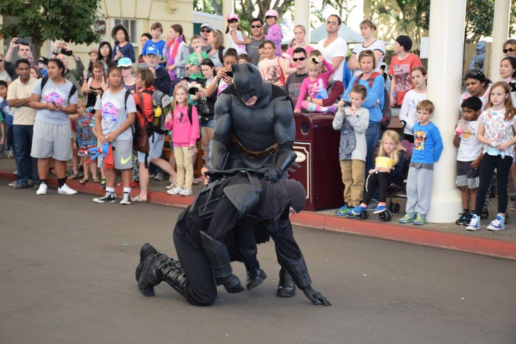 Batman appeared in Main Street to take down the bad guys -  and the kids went wild!