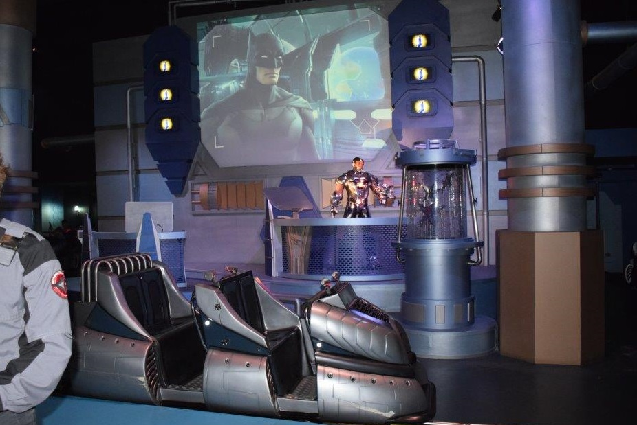 You can shoot the Aliens with your laser gun on the 3D Justice League ride