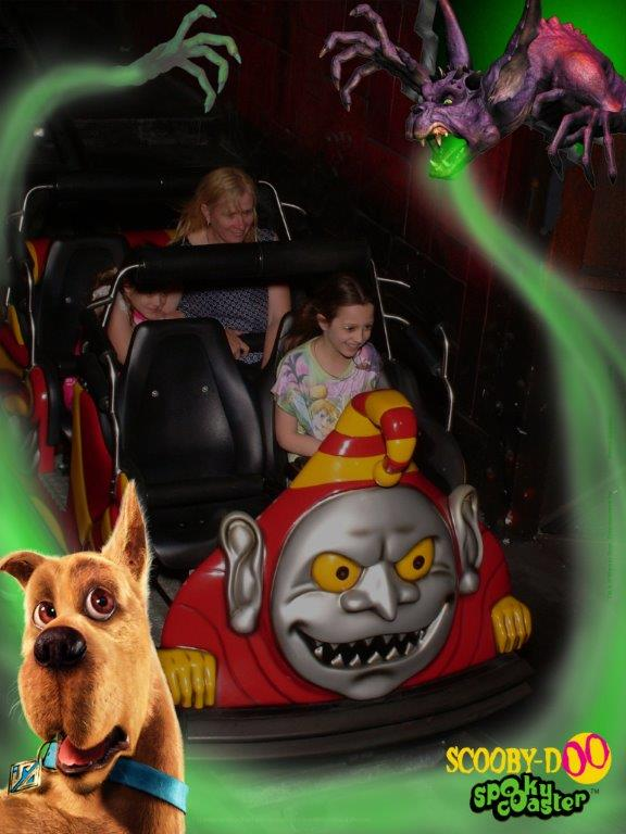 The Scooby Doo Spooky Coaster is super-spooky but super-fun! (Photo - Movie World)