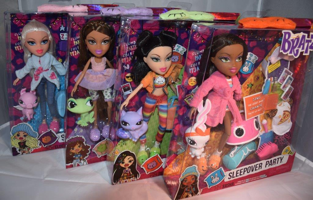 The Bratz dolls Sleepover range come with their own pets and sleeping attire
