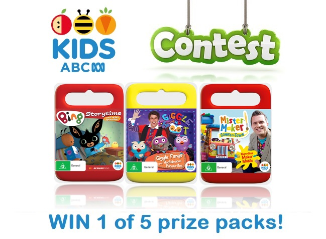 Win 1 of 5 ABC KIDS DVD Prize Packs!