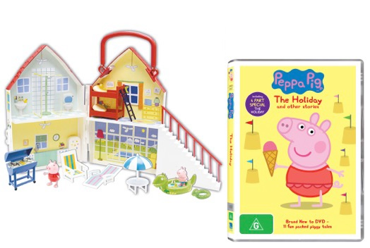 Peppa Pig Holiday DVD and toys