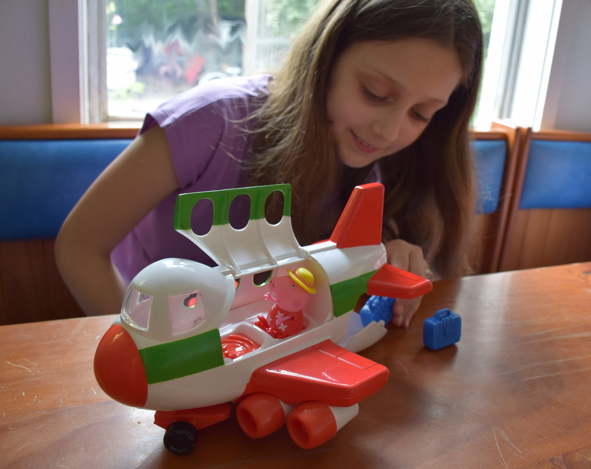 The Peppa Pig Holiday Jumbo Jet is sturdy but lots of fun!
