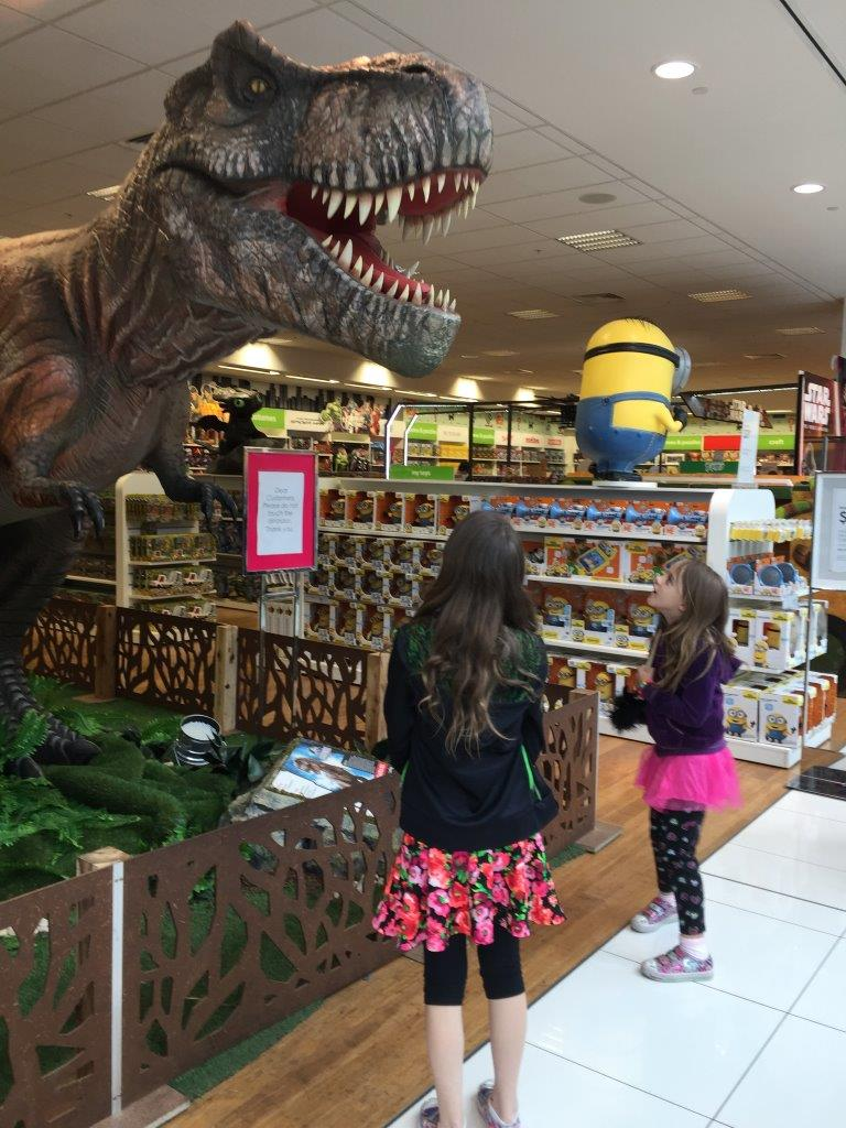 Dinosaurs roar in the Myer toy department!