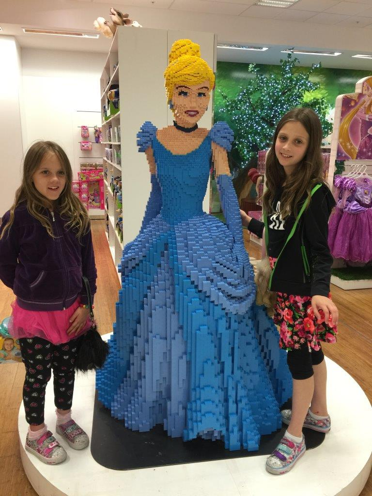 The girls couldn't believe that Cinderella was made out of Lego at first!