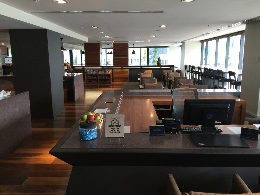 The Hilton Melbourne South Wharf Executive Lounge