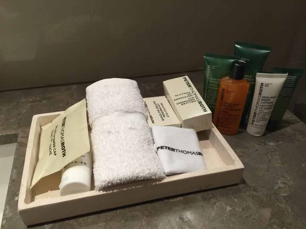 Just some of the luxury bathroom accessories!
