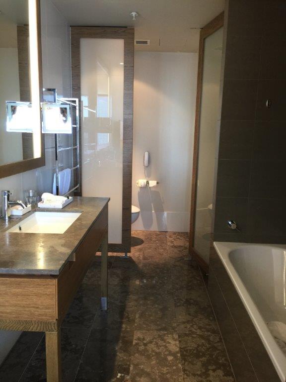 The elegant Executive Room bathroom