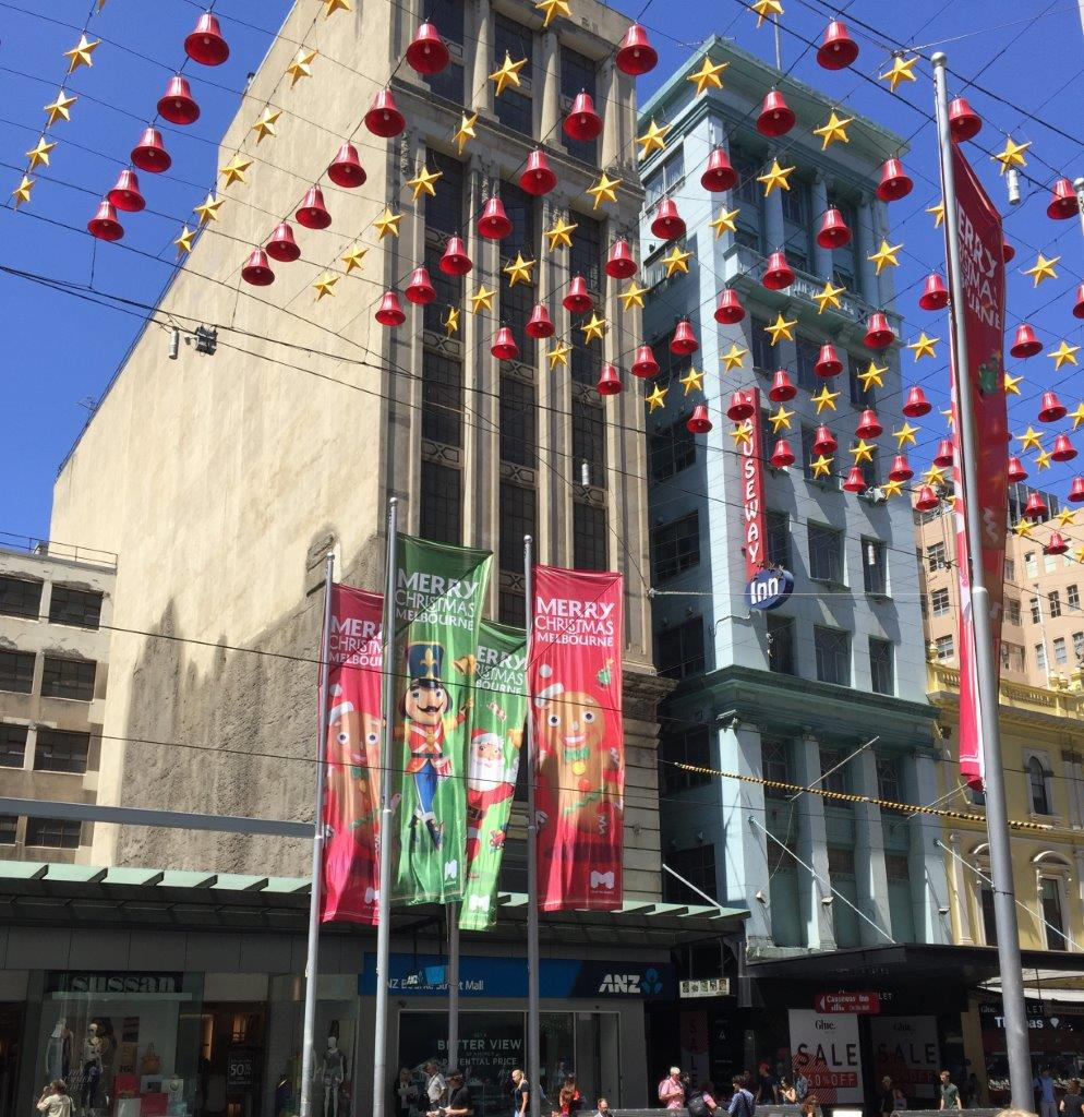 The Bourke Street Mall decorations are worth seeing