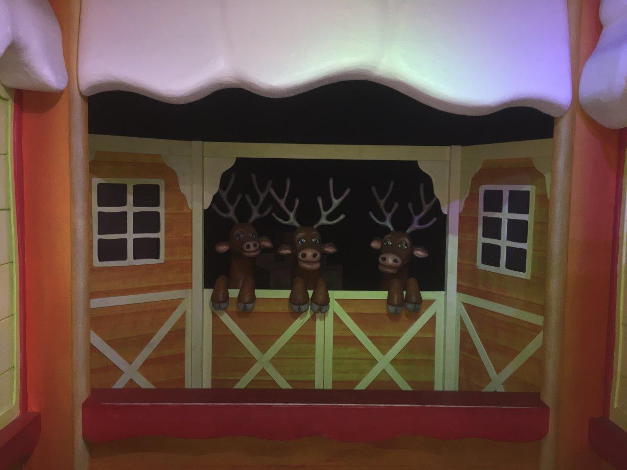 Santa's reindeer in the Magic Cave