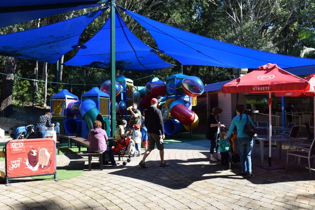 The cafe located in the middle of Currumbin has direct access to a little kids playground