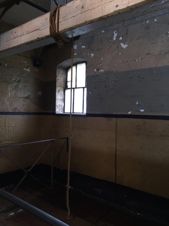 The spot where Ned Kelly was hung at Old Melbourne Gaol