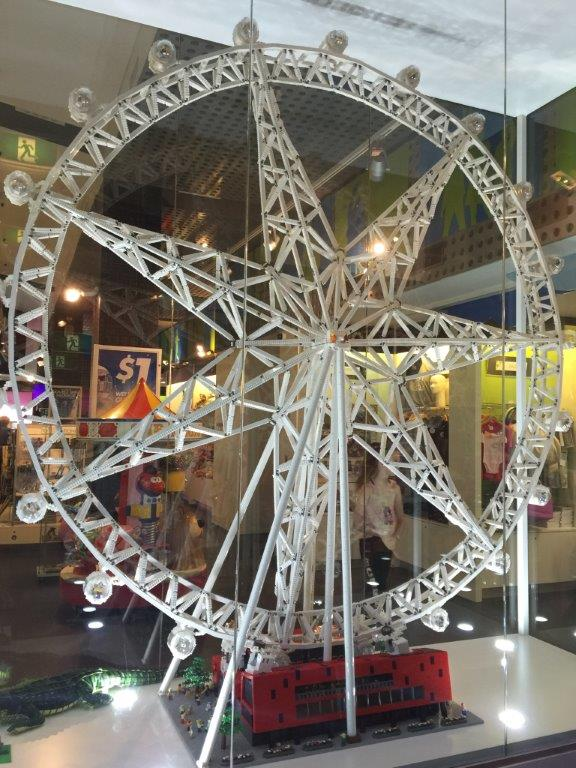 The large Lego model of the Melbourne Star