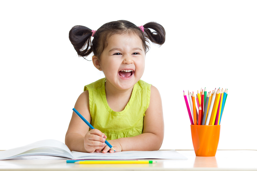 Colouring in - stock photo - Bigstock
