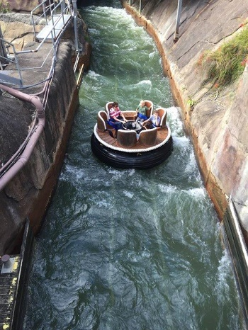 Jump aboard the River Rapids ride at Dreamworld - Photo source: Letsgomumreviews.com.au