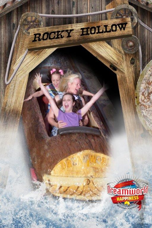 The Dreamworld Log Ride - Photo source: Dreamworld