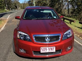 Our Holden Statesman Caprice hire car - Photo source: Letsgomumreviews.com.au