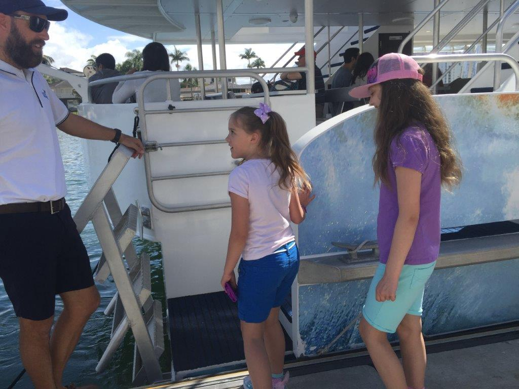 Accessing the boat is easy - it's just a little step aboard!