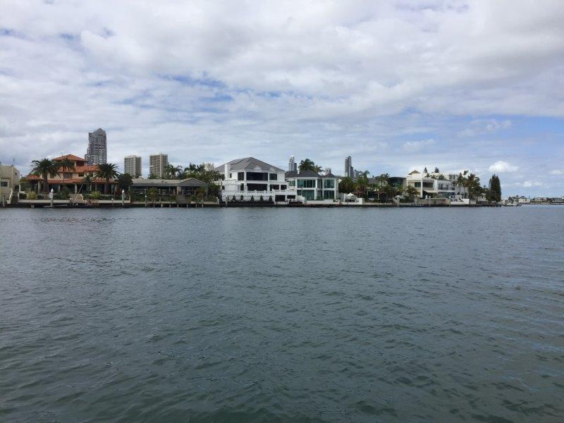 Millionaire's row on the Broadwater is great to see close-up!