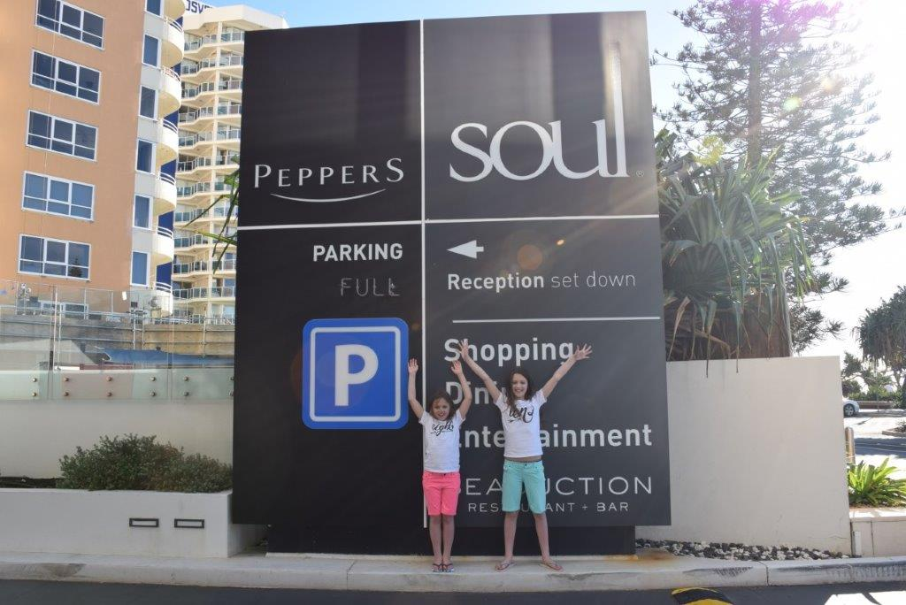 Yay - we're at Soul Apartments on the Gold Coast!