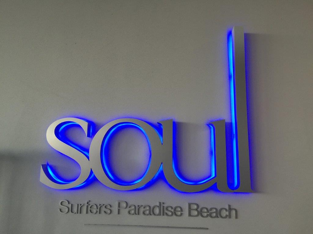 Soul apartments sign