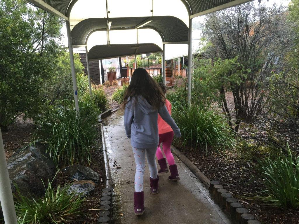 The kids loved exploring the walkways through the gorgeous gardens