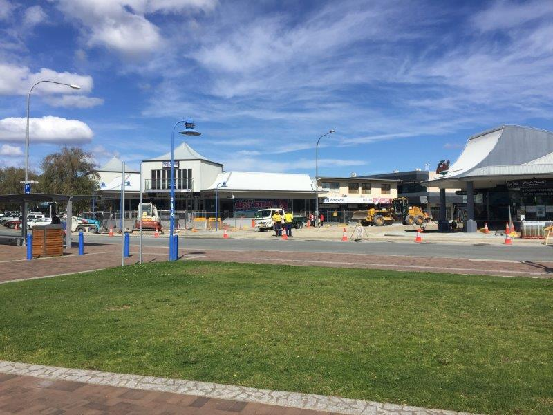 Batemans Bay main street has off-season road works going on