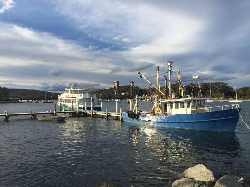 Fishing and cruise boats at Batemans Bay