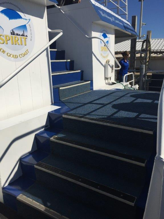 The stairs to the upper deck