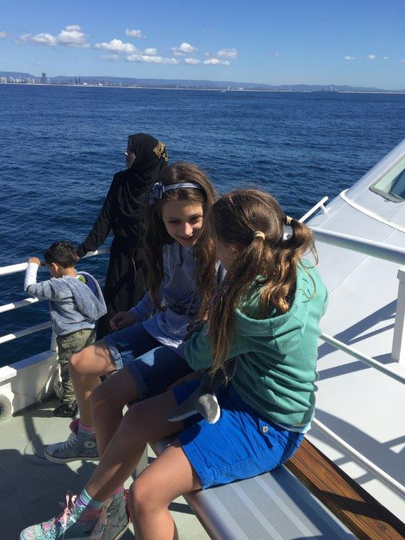 The kids had such an exciting time whale watching!