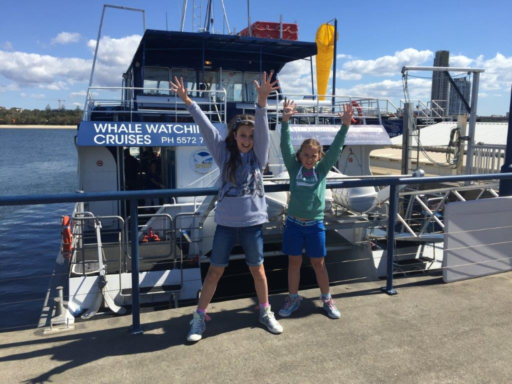 Yay - we're whale watching with Spirit of Gold Coast whale watching tours!