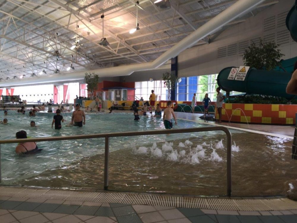 Belconnen CISAC family swimming pool and indoor slide (right)