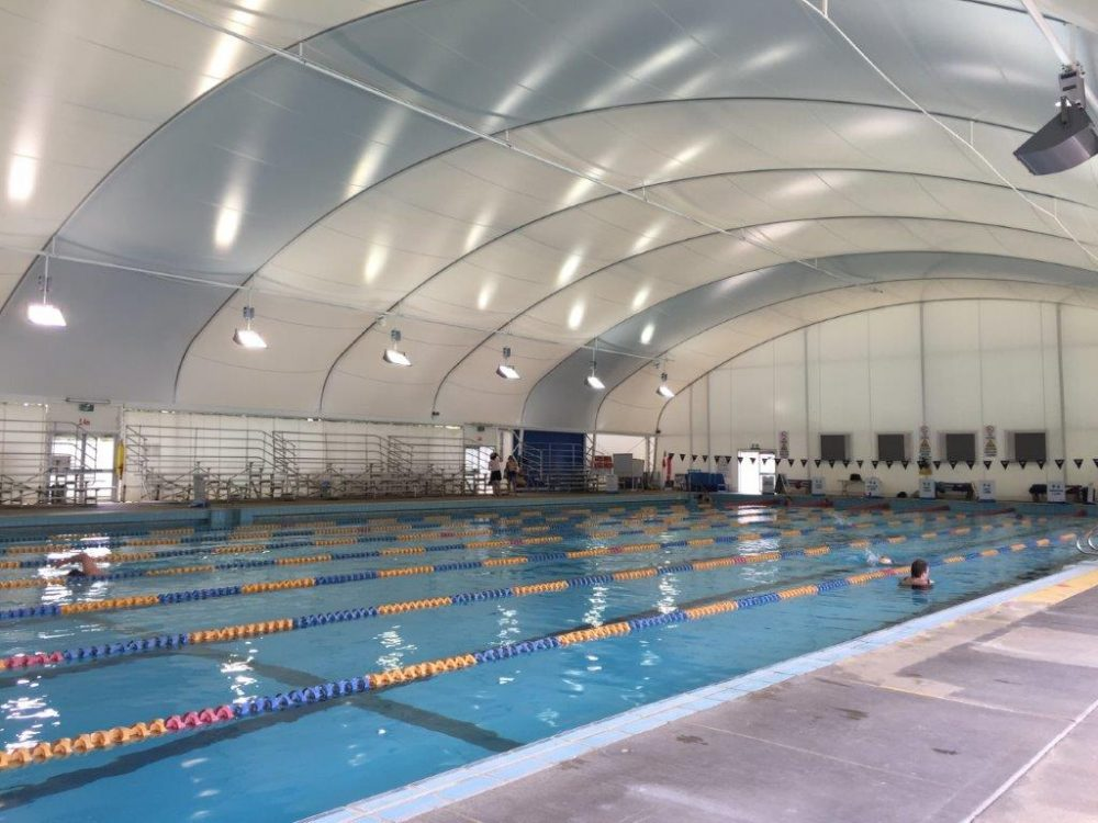 The Civic Swimming Pool full-size indoor pool