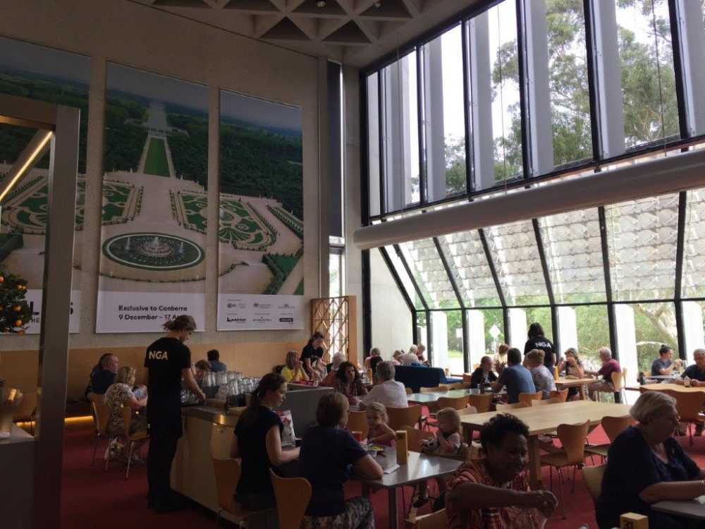 The NGA indoor cafe is Versaille themed