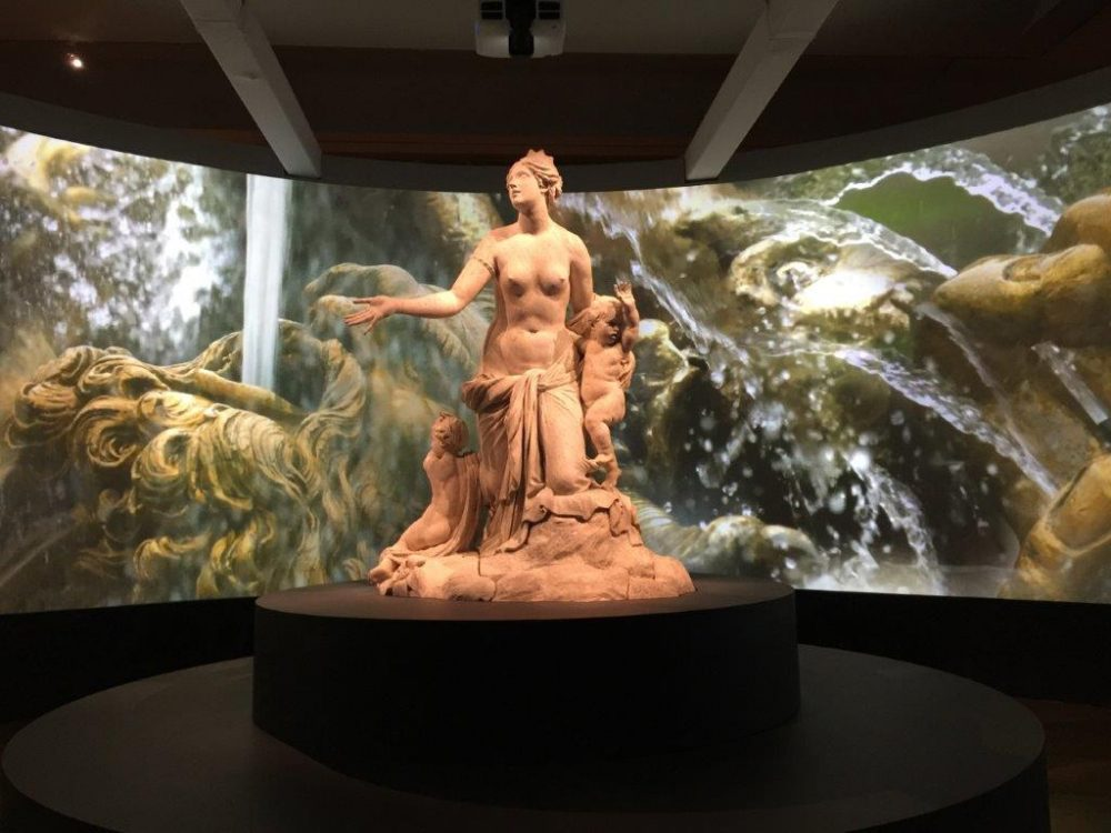 A Versailles garden fountain statue